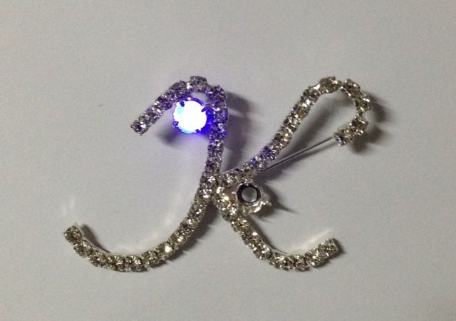 Rhinestone Pins with flashing LED