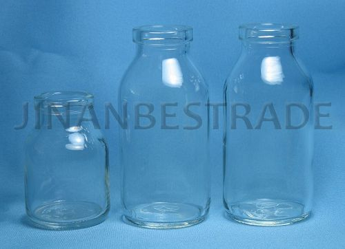 Clear Moulded Injection Glass Bottle