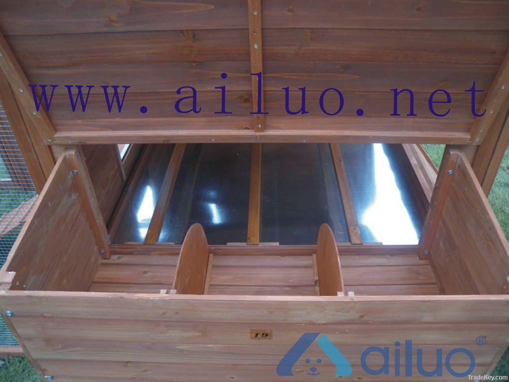 Galvanized netting  wooden chicken house