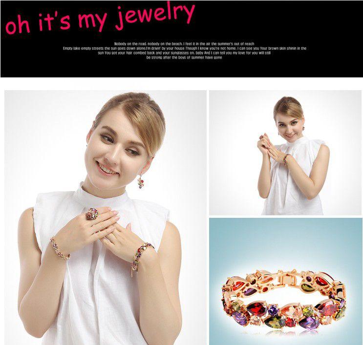New Design women jewelry Zircon Stone women bracelets Braceles bangles Fashion women bracelet