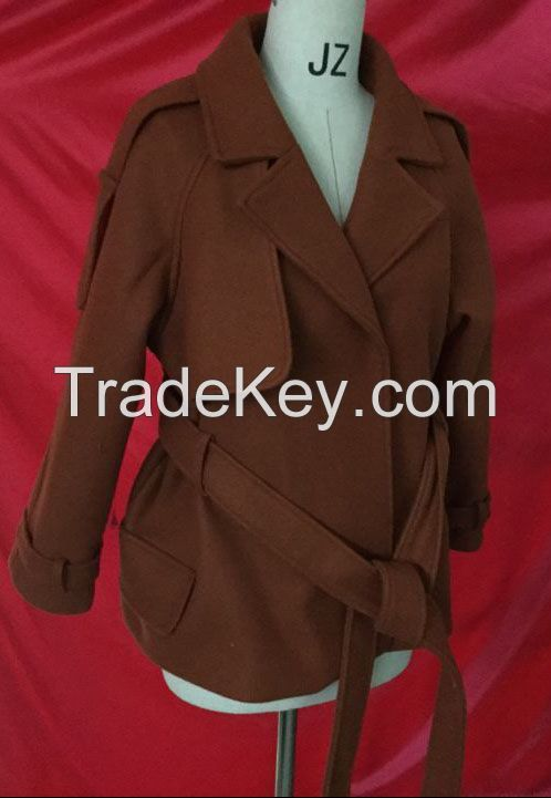 Ladies Fashion wool overcoat