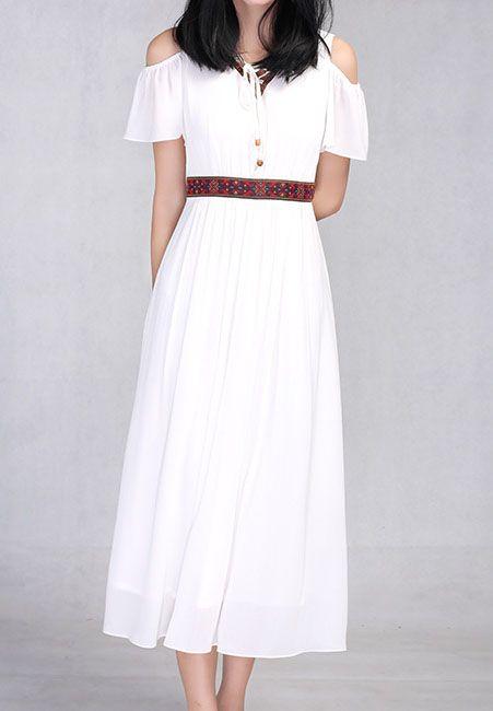 Women's short sleeve Midi Dress