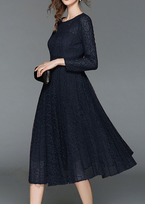 Women's long sleeve Elegant Floral lace Dress