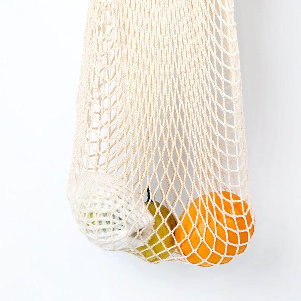 ECO Shopping Bag Cotton Mesh Net, Market Grocery Tote, Zero Waste, Reusable, Cotton, Pouch BEST BAG