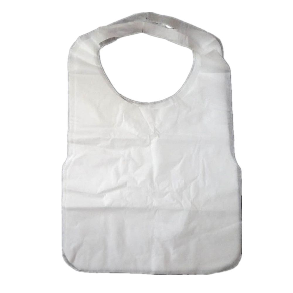 Simple Practical Waterproof Adult Bib 200 Packs