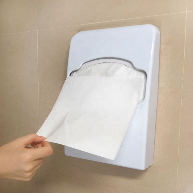 stainless steel toilet seat cover dispenser plastic seat cover dispenser 2 fold  4 fold