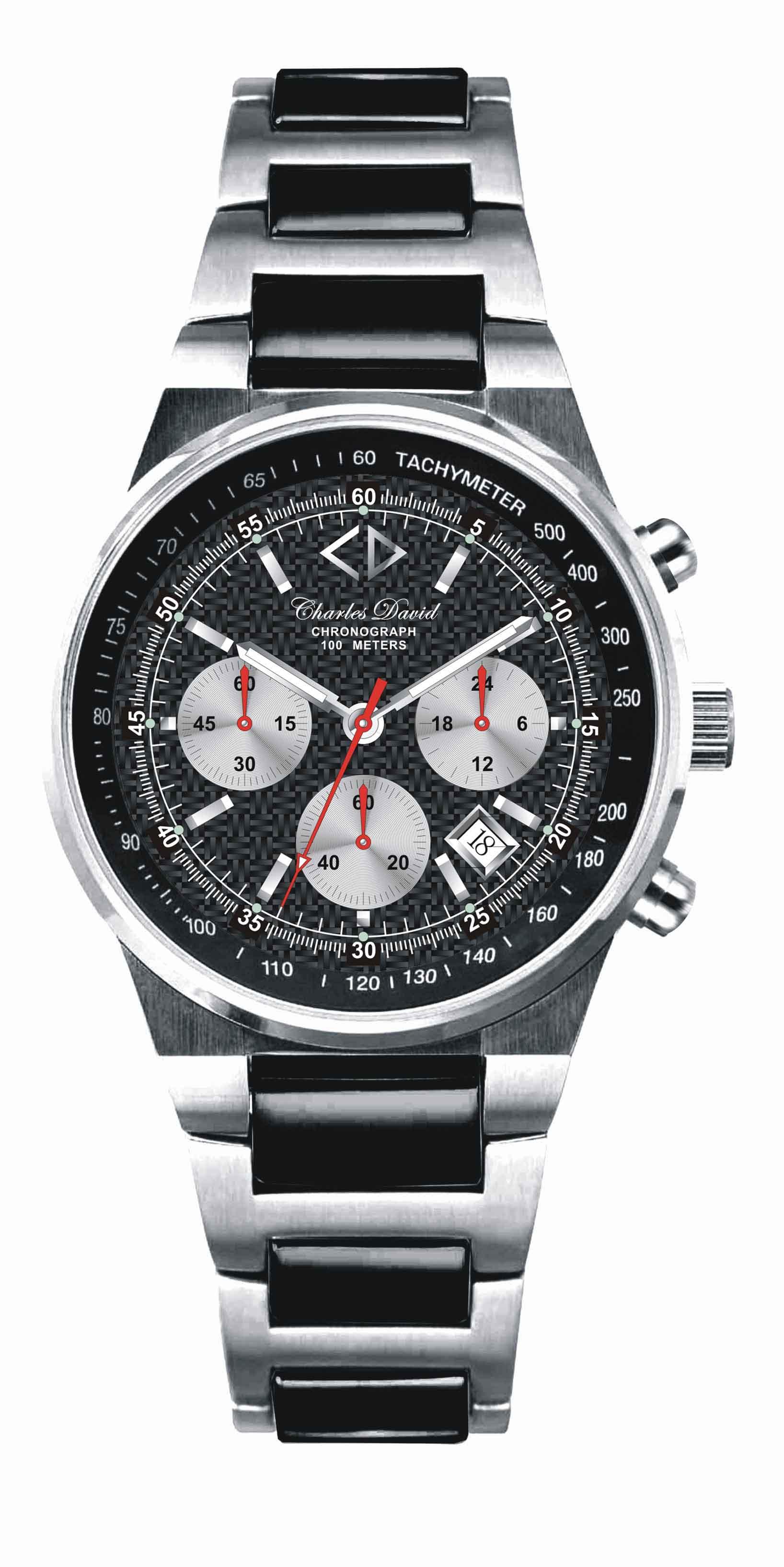 Magma Chronograph Carbon Fiber Dial Watch