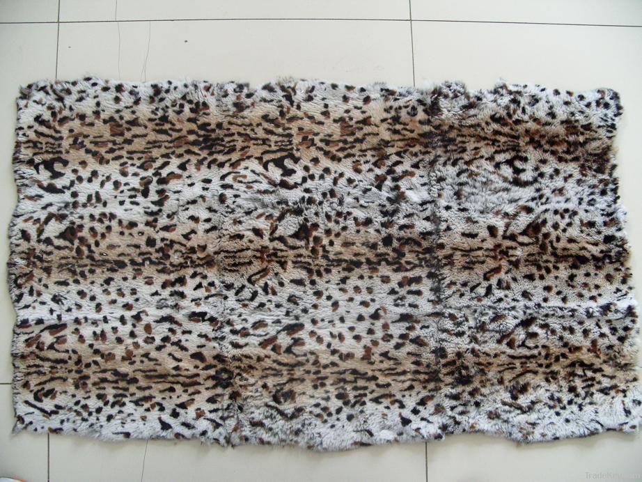 Dyed Rabbit Fur Plate