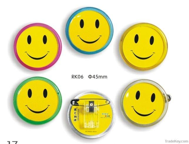 acrylic badge holder, ID card holder, Badge