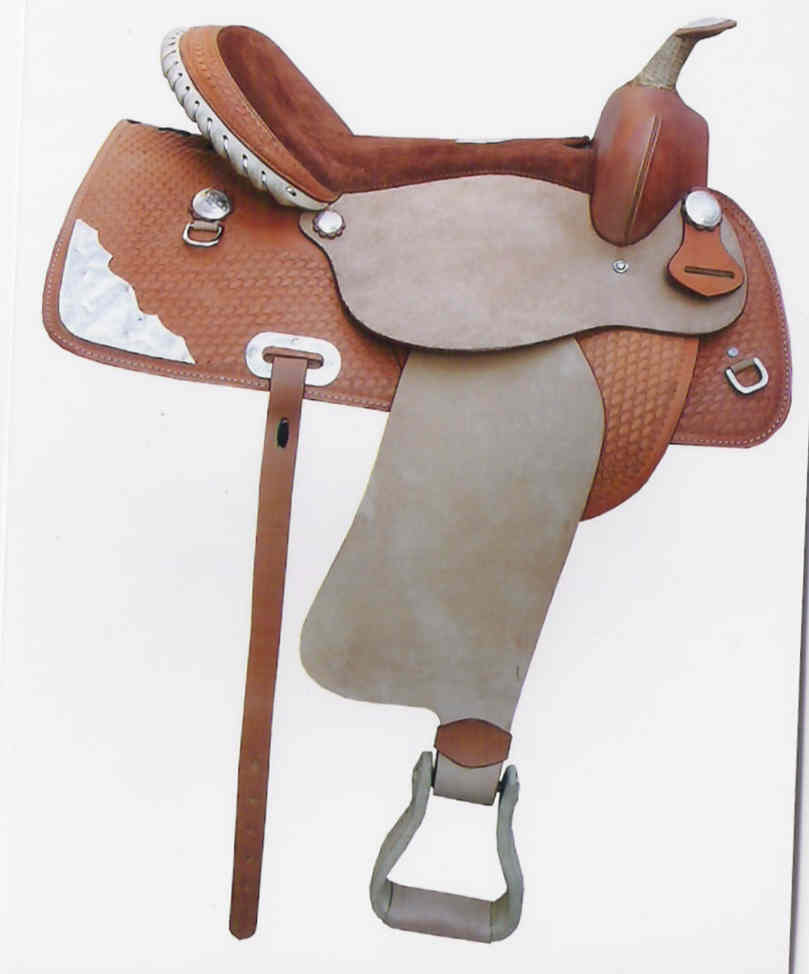 HAND CARVED AND TOOLED SADDLE
