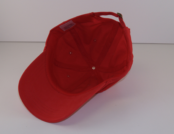 hat, 100% cotton brushed twill, 6-panel