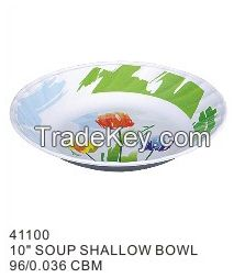 Durable big capacity eco friendly functional melamine blue rice bowl Colored different size flat bottom melamine bowl