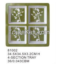 factory supply cheap rectangular melamine serving tray restaurant melamine health handled serving tray
