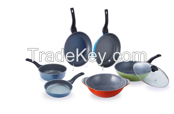 non-stick curling stone frying pan set