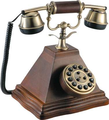 Antique Wooden Telephone Old Style