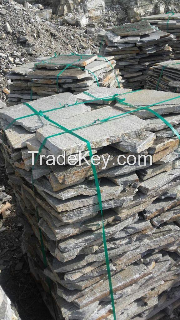Silvery Green Slate Stone