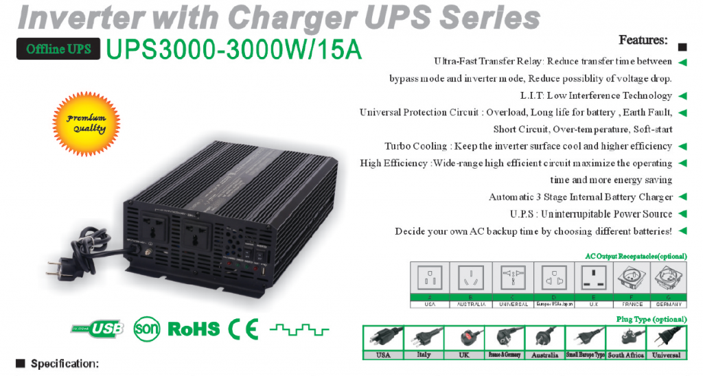 Inverter Charger UPS Series