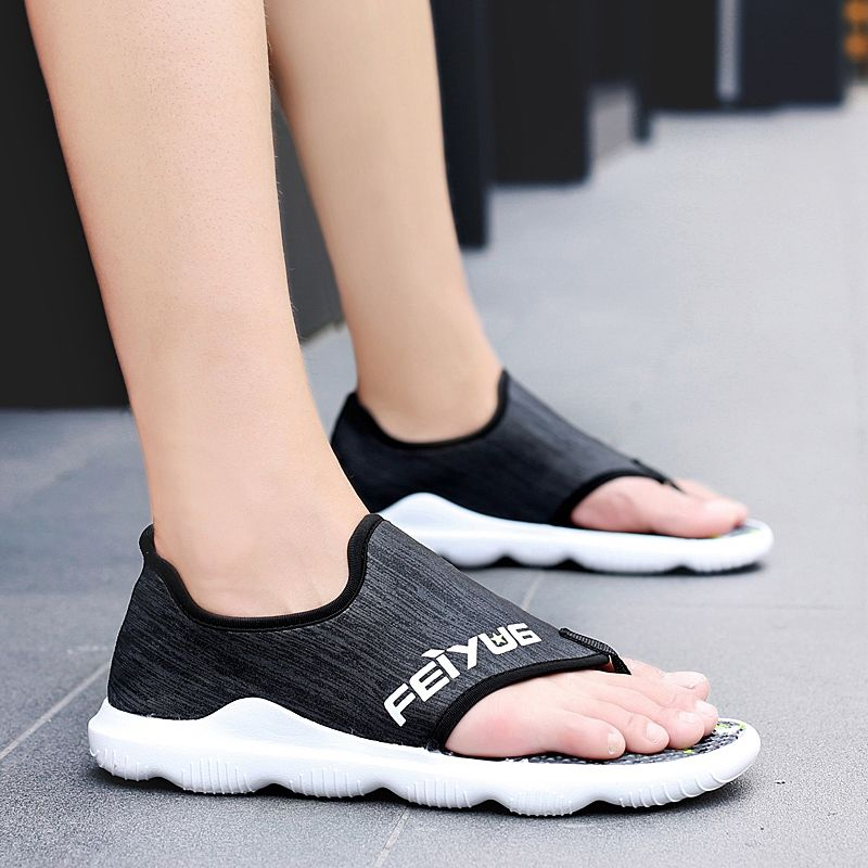 Summer Men Flip Flops Male Mixed Color Slippers Men Casual net fabric rubber Shoes Summer Fashion Beach Sandals