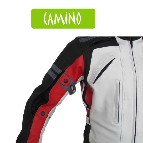 Camino Vented Leather Motorcycle Jacket