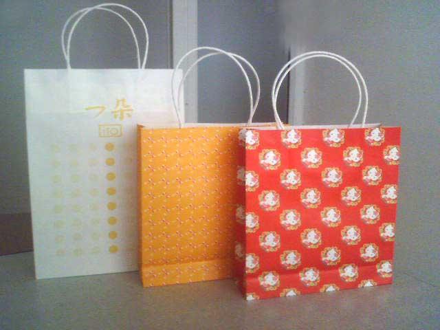White-kraft paper bags