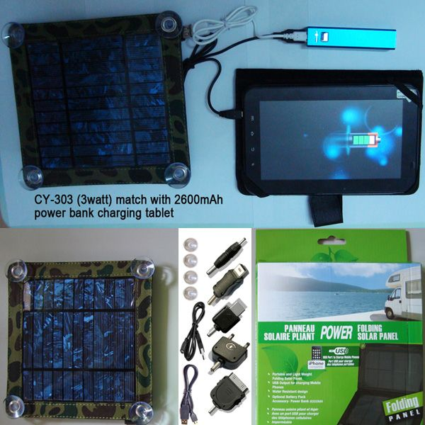 Eco Miracle Electronic Limited offer 3watt solar charger kit CY-303