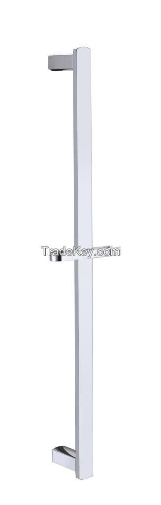 Kelica Solid Brass Adjustable Wall Mount Slide Shower Bar in Chrome