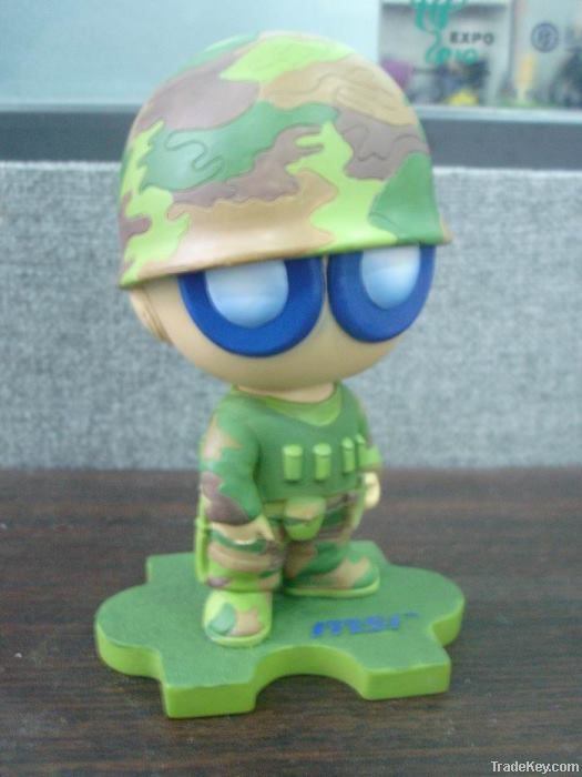 resin crafted bobble head