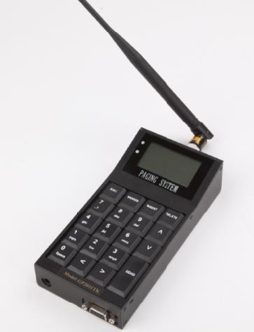 Keyboard paging transmitter