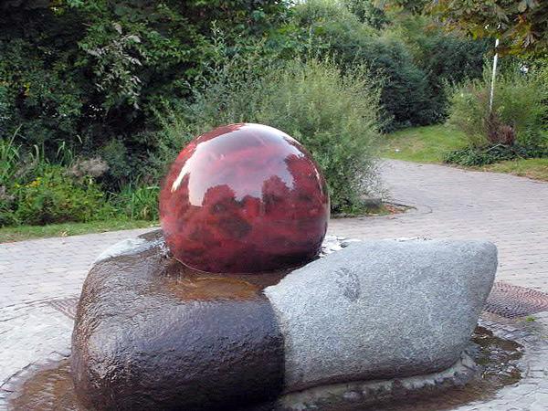 ball water feature fountain, ball fountain, marble sphere fountain