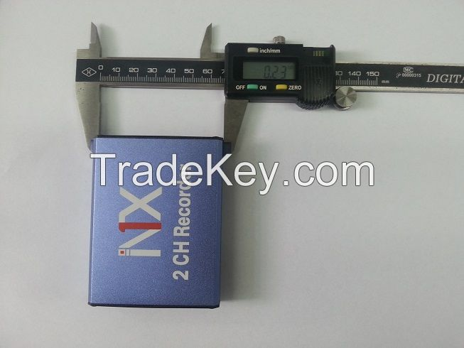 2CH SD Card DVR with IR Remote Control Record Simultaneously 128GB SD