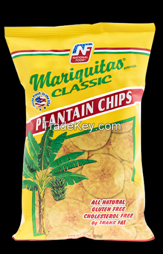 100% pure Snack plantain chip/banana chips for sale in bulk
