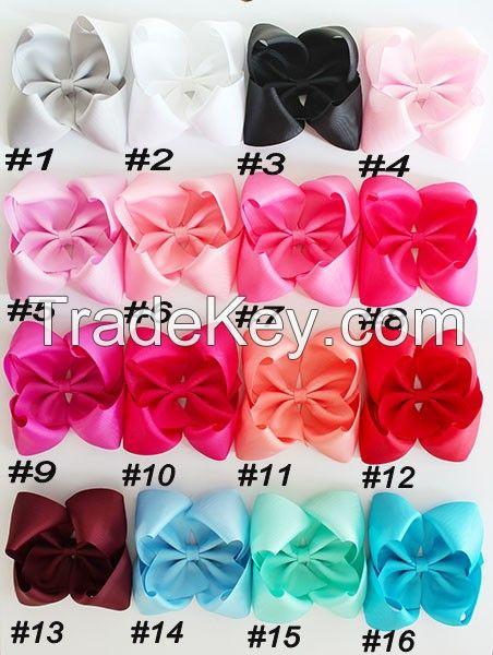 5.5-6'' ABC hair bows Boutique hair bows girl hair bows clips