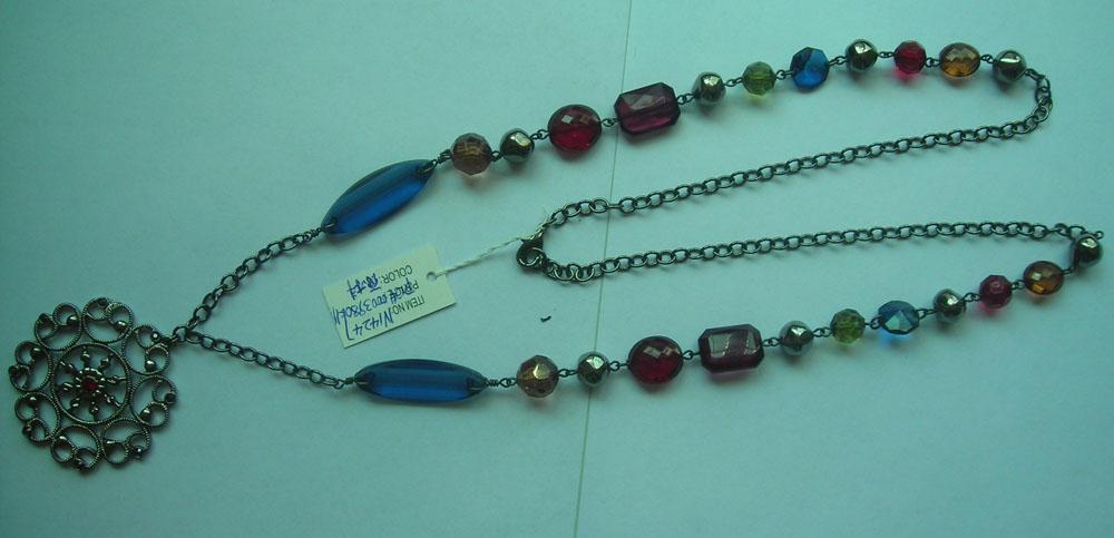 alloy pendant long necklace