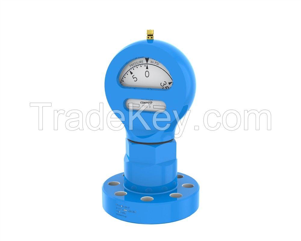 Flanged Type D pressure gauge