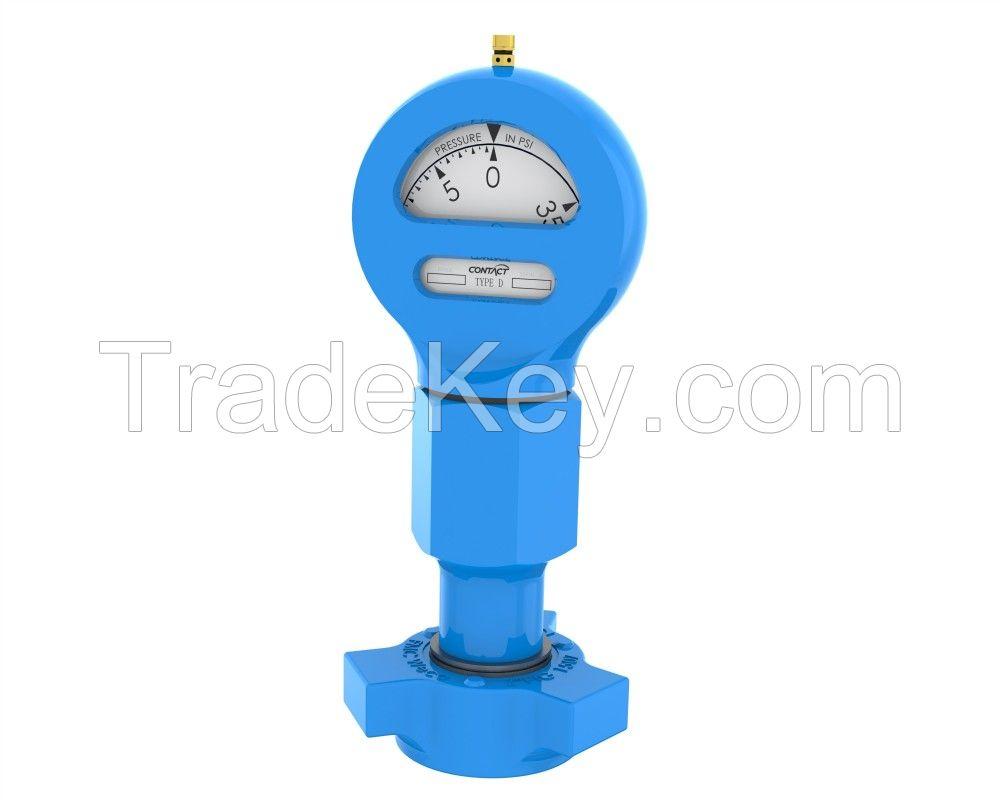 1502 Hammer Union Pressure Gauges