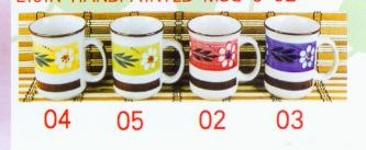 Hand Painted 9oz Lijin Mug