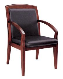 wood conference arm chair