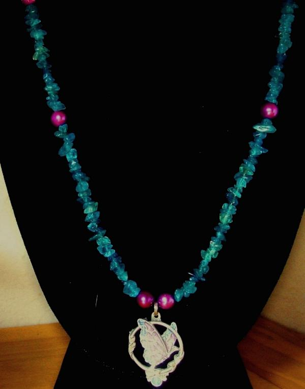 Apatite & Butterfly Necklace