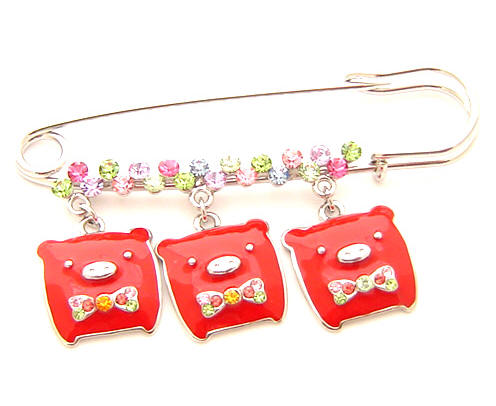 cute piggy brooch