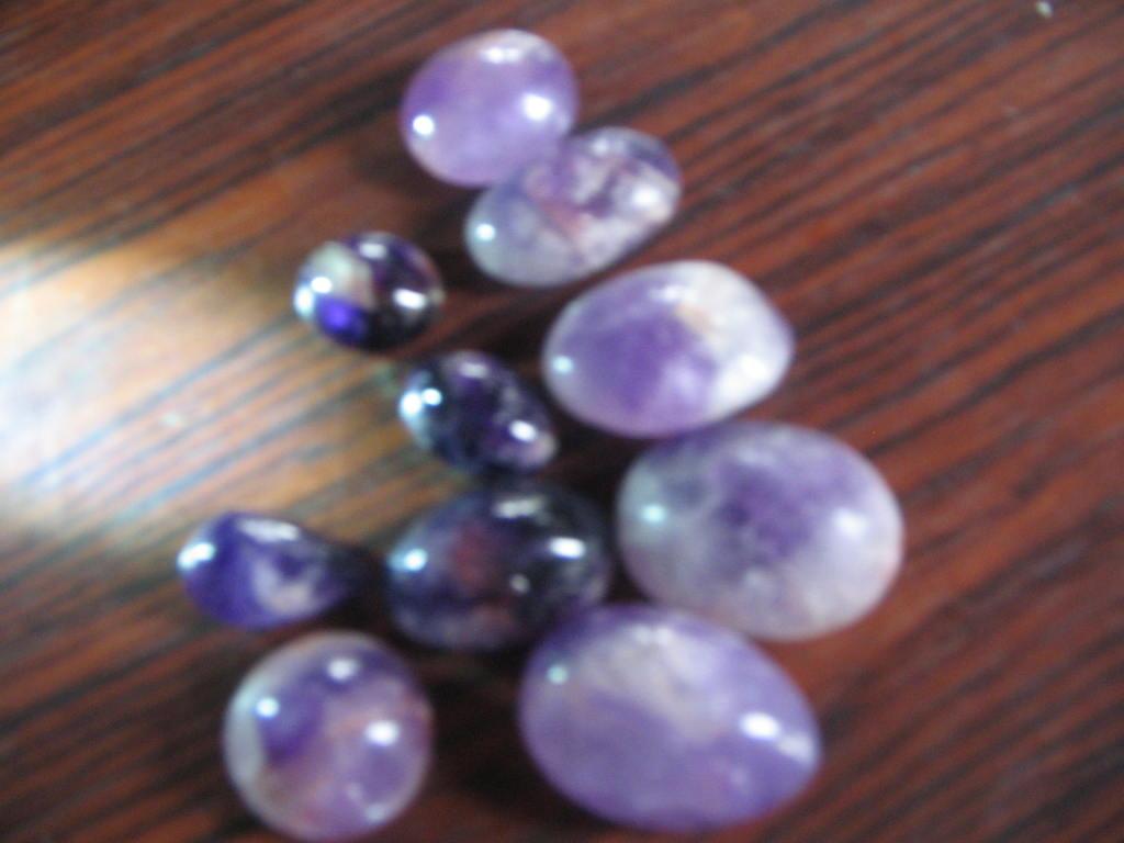 purple gem stones