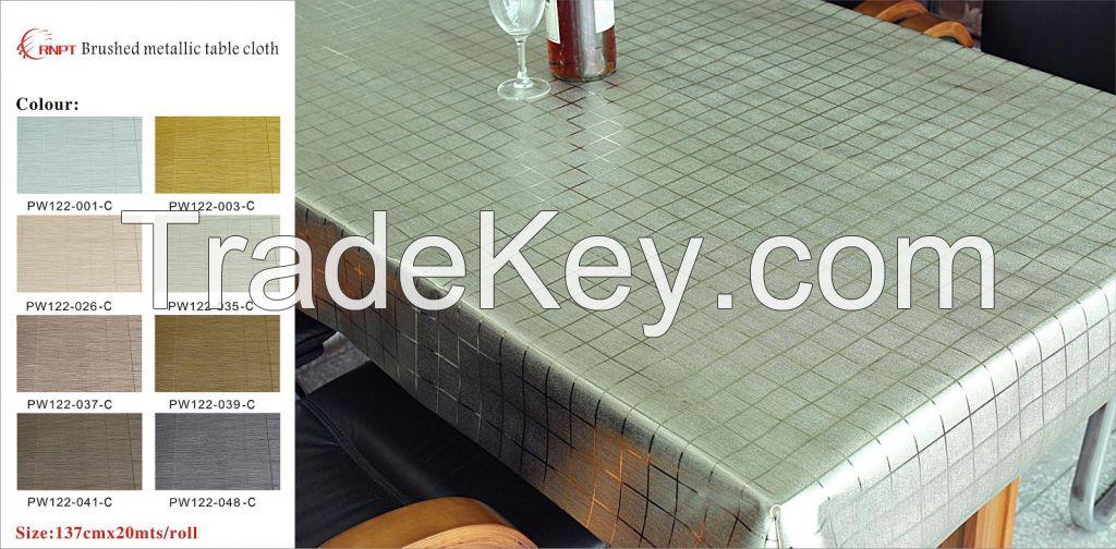 RNPT - Brushed Metallic Table Cloth