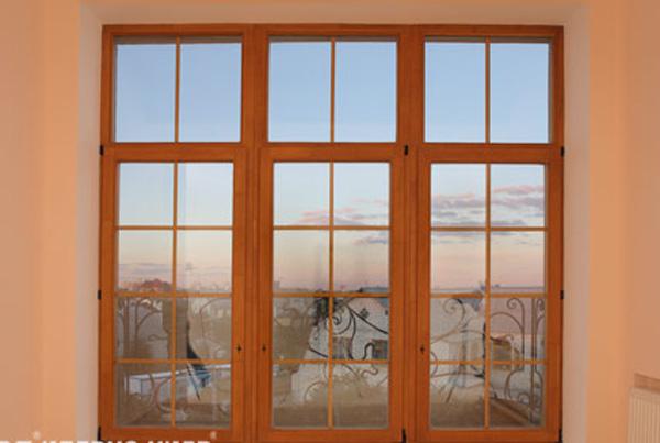 Aluminum-wood windows