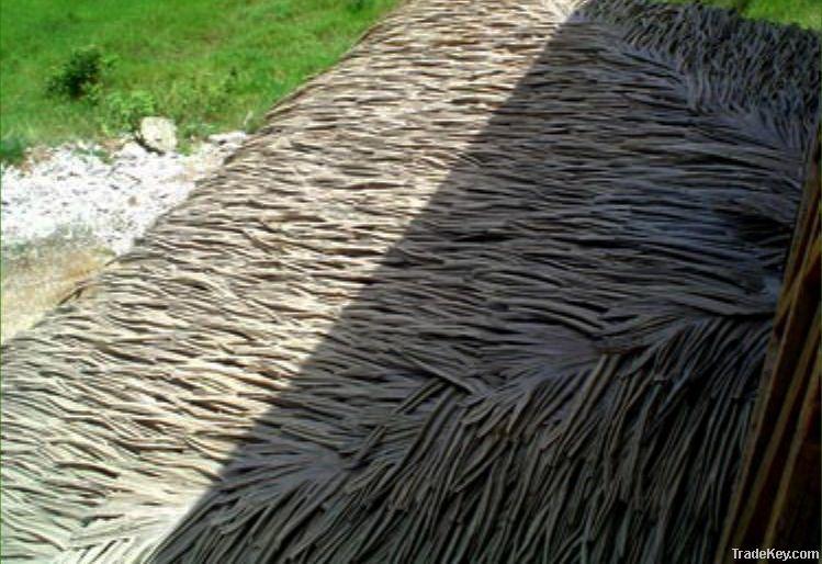 Fiber thatch, artificial plastic thatch, PVC thatched straw, imitation