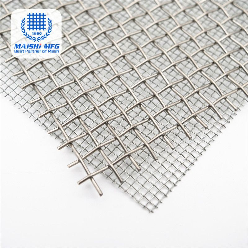 Decorative stainless steel hard weave crimped mesh