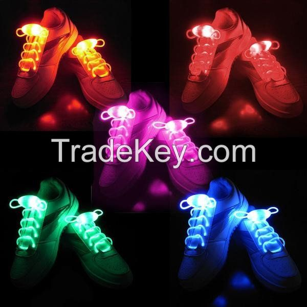 LED Shoelaces Light Up Shoe Laces with 3 Modes Flash Lighting the Night for Party Hip-hop Dancing Cycling Hiking
