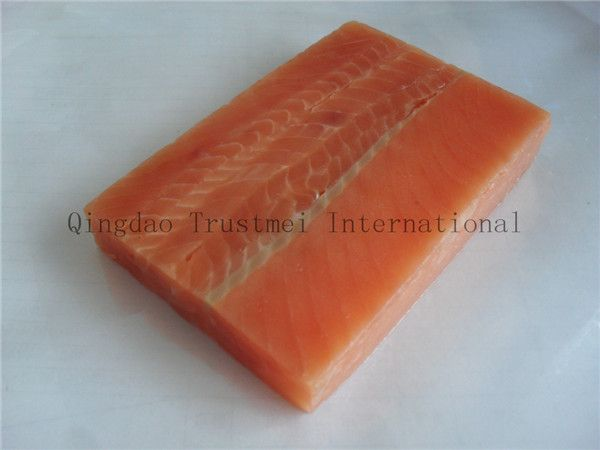 Pink salmon fillets, portions, blocks