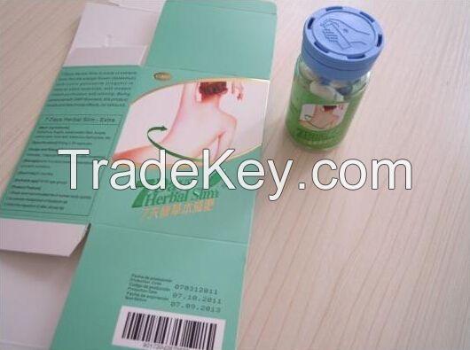 7 Days Herbal Slim Diet Pill Bottle Packing