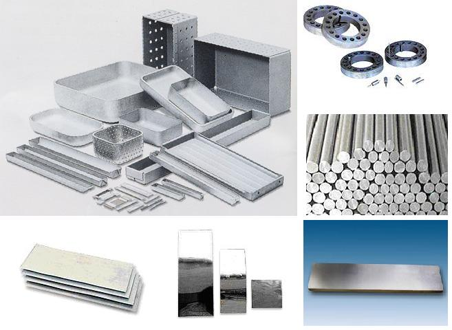 Tungsten or Molybdenum Rolled Plate, sheet,bar,boat, sputtering target