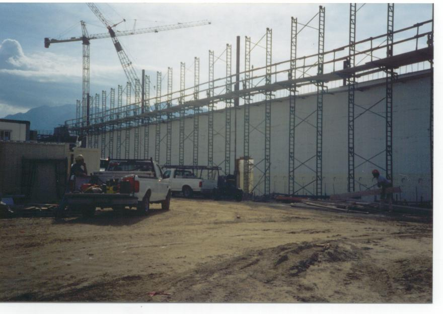 ICF tall wall bracing system
