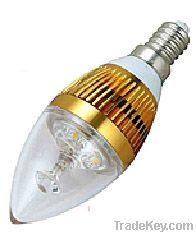 USD 1.40 of 3W LED candle 3 leds E27 under promotion